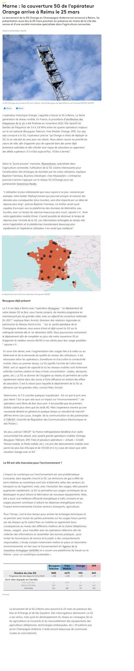 FRANCE 3 GRAND EST - Marne : la couverture 5G de l'opérateur Orange arrive à Reims le 25 mars