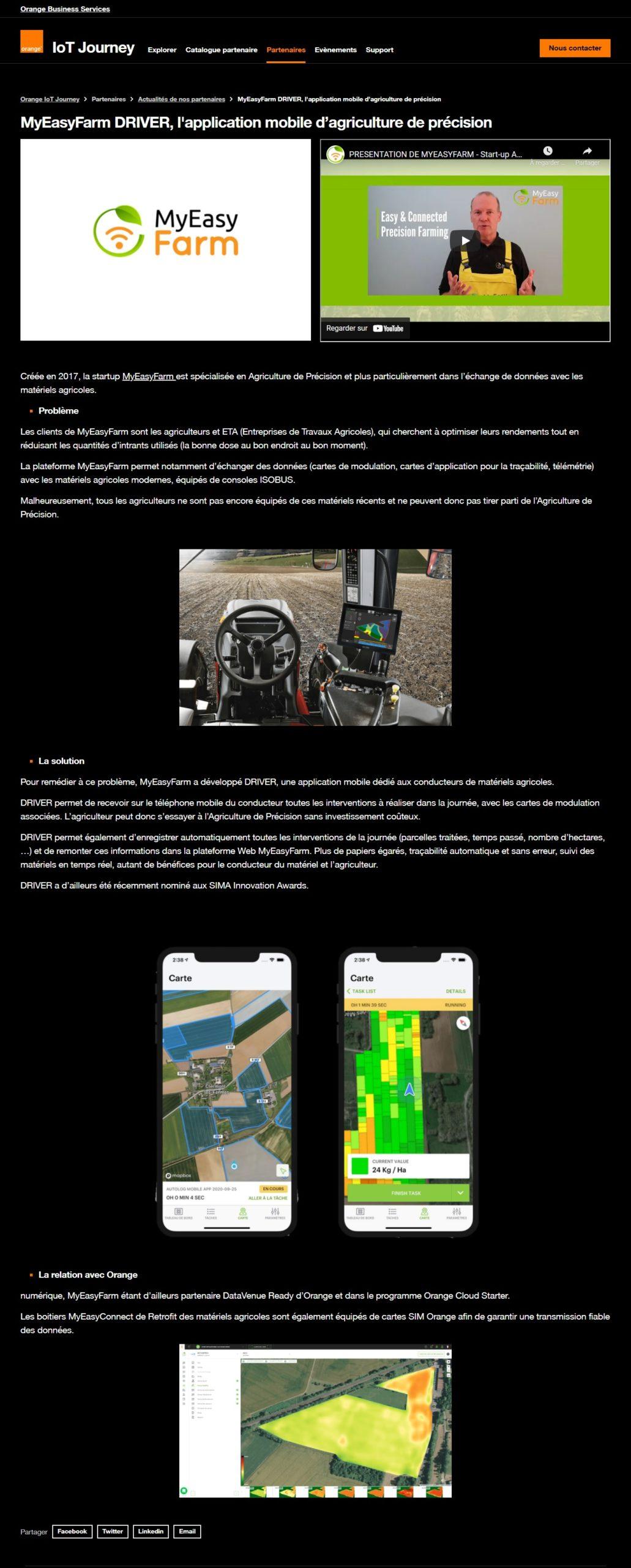 MyEasyFarm DRIVER, l'application mobile d'agriculture de précision